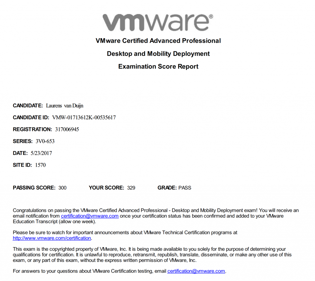 Vmware Certified Advanced Professional 6 Desktop And Mobility